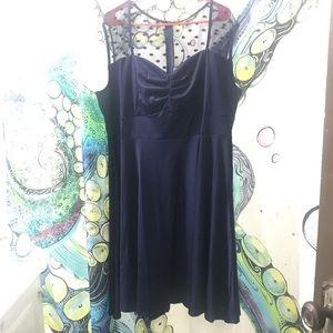 Plus Size Navy Sweetheart dress